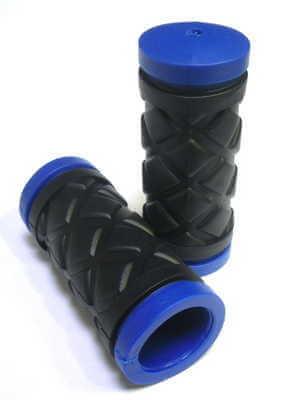 Грипсы HY-500-3G L-75 (чёрный-синий) купить в гомеле